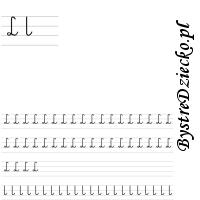 Nauka pisania literek – L