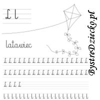 Nauka pisania literek – L jak latawiec