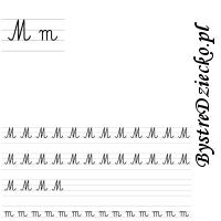 Nauka pisania literek – M