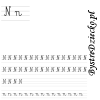 Nauka pisania literek – n