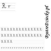 Nauka pisania literek – r