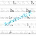 B - nauka pisania sylabami - karty pracy dla dzieci