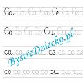 C - nauka pisania sylabami - karty pracy dla dzieci
