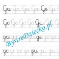 G - nauka pisania sylabami - karty pracy dla dzieci