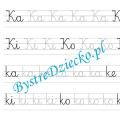 K - nauka pisania sylabami - karty pracy dla dzieci