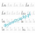 Ł - nauka pisania sylabami - karty pracy dla dzieci