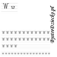 Nauka pisania literek – W