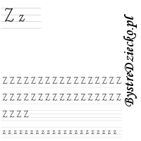 Nauka pisania literek – z