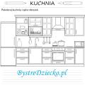 Opisz obrazek, kuchnia kolorowanka - wypracowanie dla dzieci, sprawdzian z języka polskiego