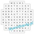 Angielski dla dzieci, przeciwieństwa wykreślanka - Opposites Word Search - worksheets for kids