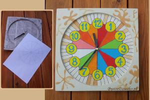 Domowy recykling papieru, czyli ścienne zegary dla dzieci z papier mache