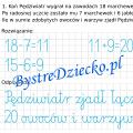 Dodawanie i odejmowanie w zakresie 20 - zadania tekstowe z matematyki klasa 2