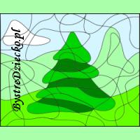 Pokoloruj pola - mały iglaczek