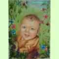 Portret dziecka techniką olejną Anna Kubczak