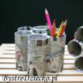 Domowy recykling papieru - pojemniki na długopisy