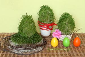 DIY wielkanocne jajko z rzeżuchy - zabawy plastyczne dla dzieci
