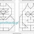 Symetria dla dzieci - dorysuj figury symetryczne w oparciu o oś symetrii - stworki potworki