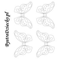 Wycinanki dla dzieci z szablonem skrzydeł motyla - dekoracje wielkanocne i wiosenne