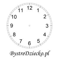 Tarcza zegara do wydruku dla dzieci