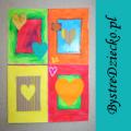 Walentynka wykonana przez dzieci lub kartka walentynkowa dla całej rodziny