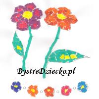 Wydzieranki dla dzieci - kwiaty