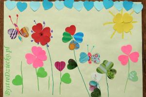 DIY wyklejanki dla dzieci wycinane przez dziurkacze ozdobne z wzorem serca