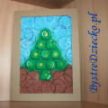 Egg carton Christmas tree crafts for kids