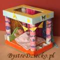 DIY łóżeczko dla lalek - tworzymy eko zabawki dla dzieci z kartonu - urządzamy domek dla lalek