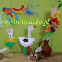 Zajęcia plastyczne dla dzieci w przedszkolu - 'Dzień otwartych drzwi - Wiosna' - ozdoby z papieru