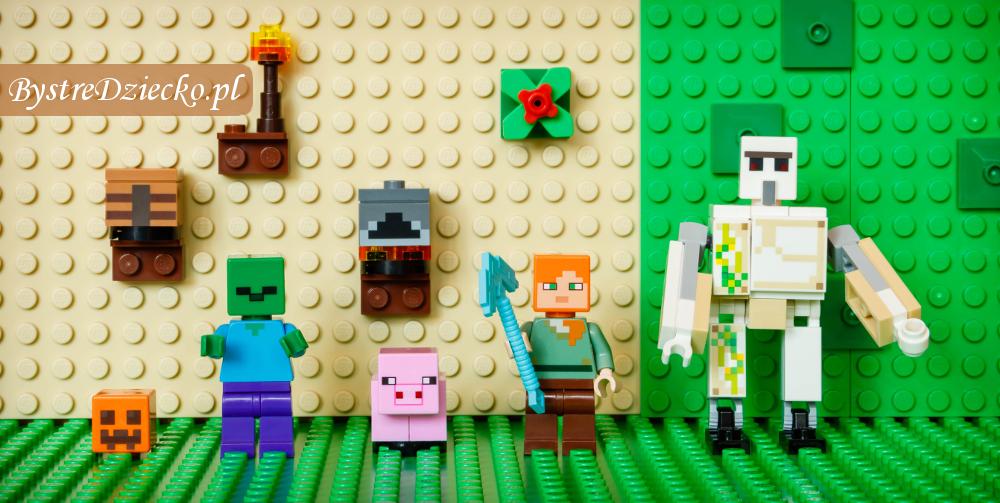 Recenzja Lego Minecraft Żelazny Golem 21123, test klocków LEGO