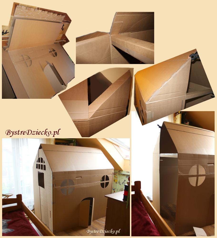 DIY, czyli jak zrobić duży domek z kartonu dla dzieci - recykling papieru