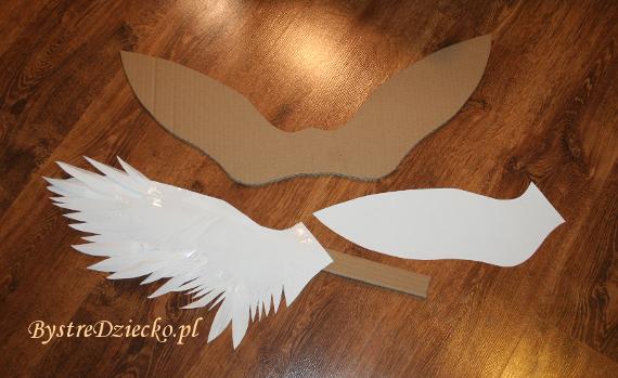 Jak zrobić skrzydła anioła lub ptaka - strój aniołka na jasełka lub kostium karnawałowy