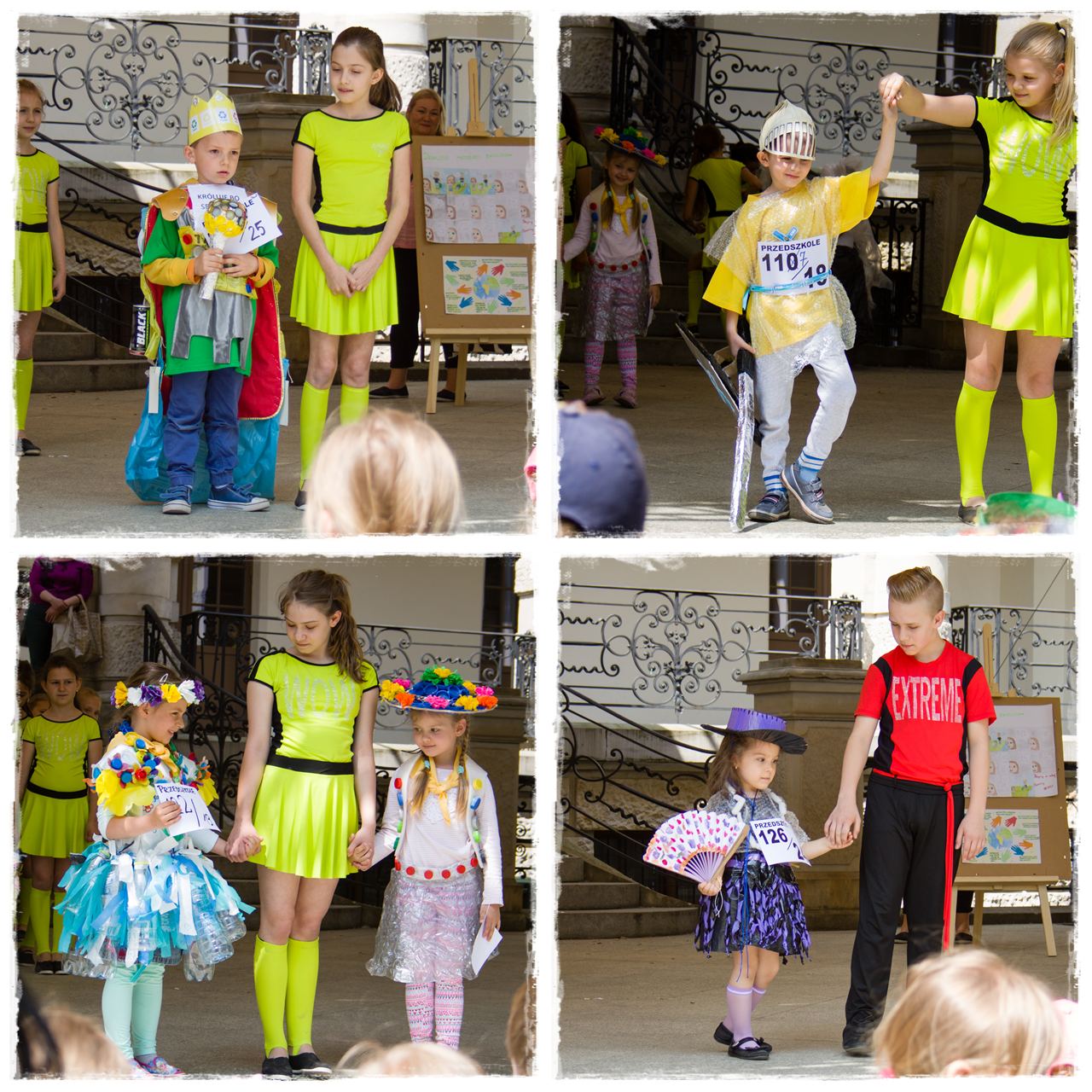 Strój ekologiczny wykonany z odpadów  w ramach recyklingu - aktywizacja dzieci na rzecz ochrony przyrody - Wrocławskie Dzieci Uczą Segregować Śmieci 2017