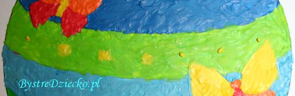 Bombka kolorowanka wyklejana plasteliną