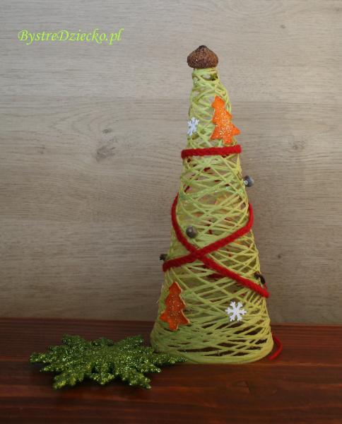 Pachnące choinki z sznurka - dekoracje świąteczne