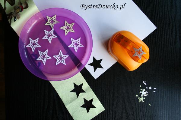 Dziurkacz ozdobny z motywem gwiazdy - ozdoby bożonarodzeniowe ręcznie robione