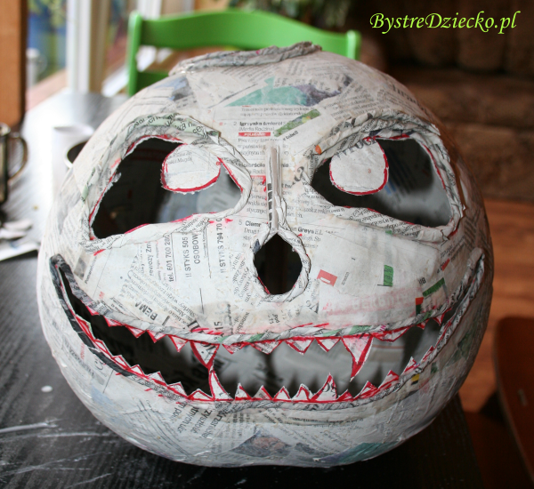 homemade halloween decorations paper mache pumpkin crafts for kids