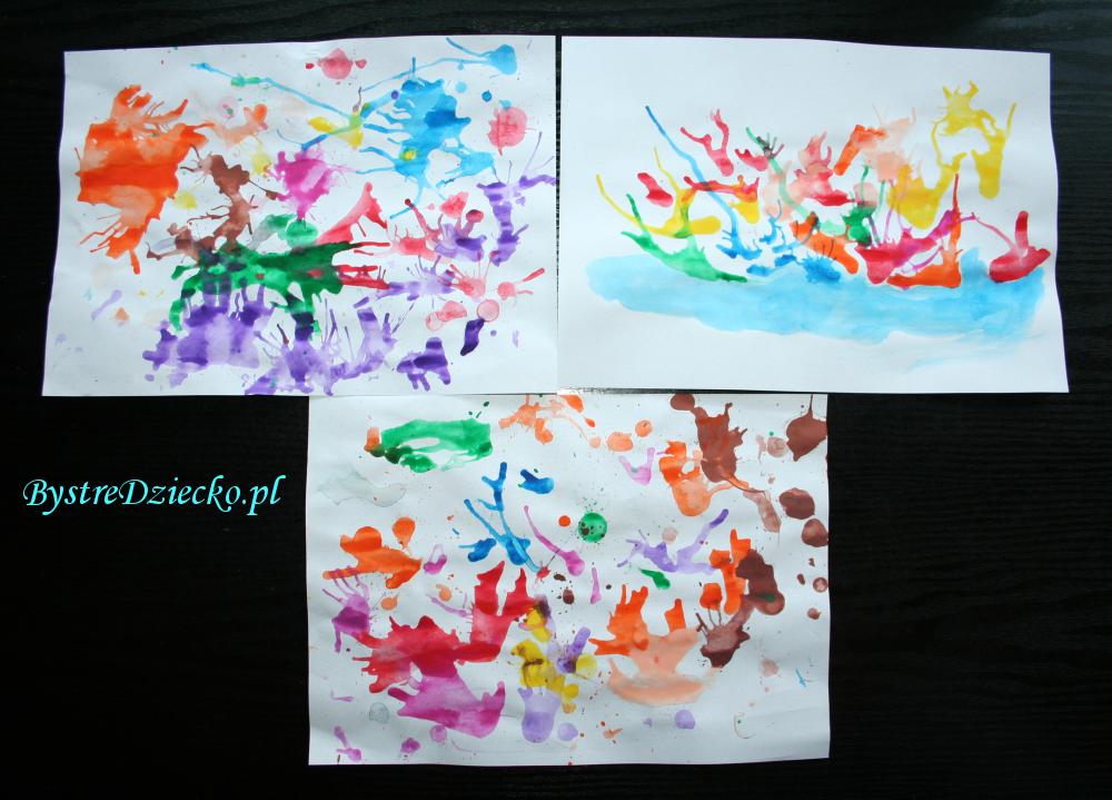 Ćwiczenia logopedyczne wykorzystujące zabawy plastyczne, czyli malowanie słomką