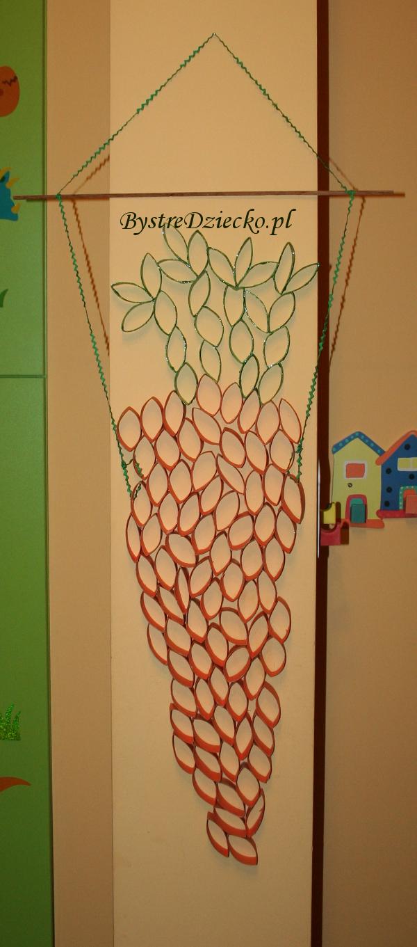 DIY pierwsza marchewka z rolki po papierze toaletowym - prace plastyczne dla dzieci
