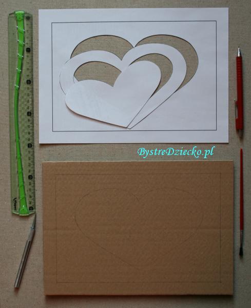 Kartka walentynkowa dla dzieci i dorosłych - recykling papieru i scrapbooking