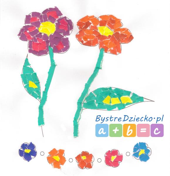 Wydzieranki dla dzieci z papieru kolorowego - zajęcia plastyczne dla dzieci