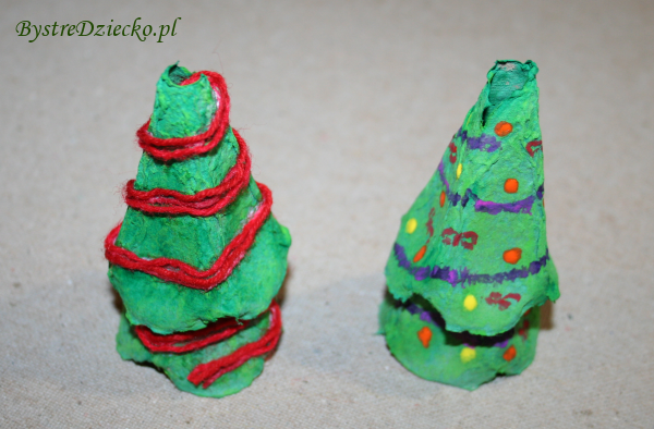 Zajęcia plastyczne dla dzieci z propozycją dekoracji świątecznych z wytłaczanek na jajka
