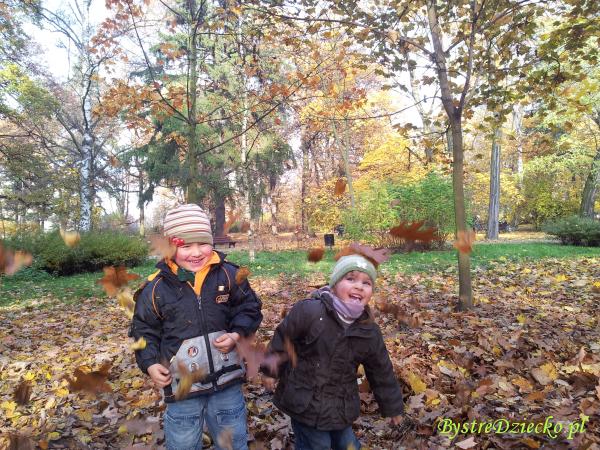 Zabawy ruchowe dla dzieci jesienią w parku