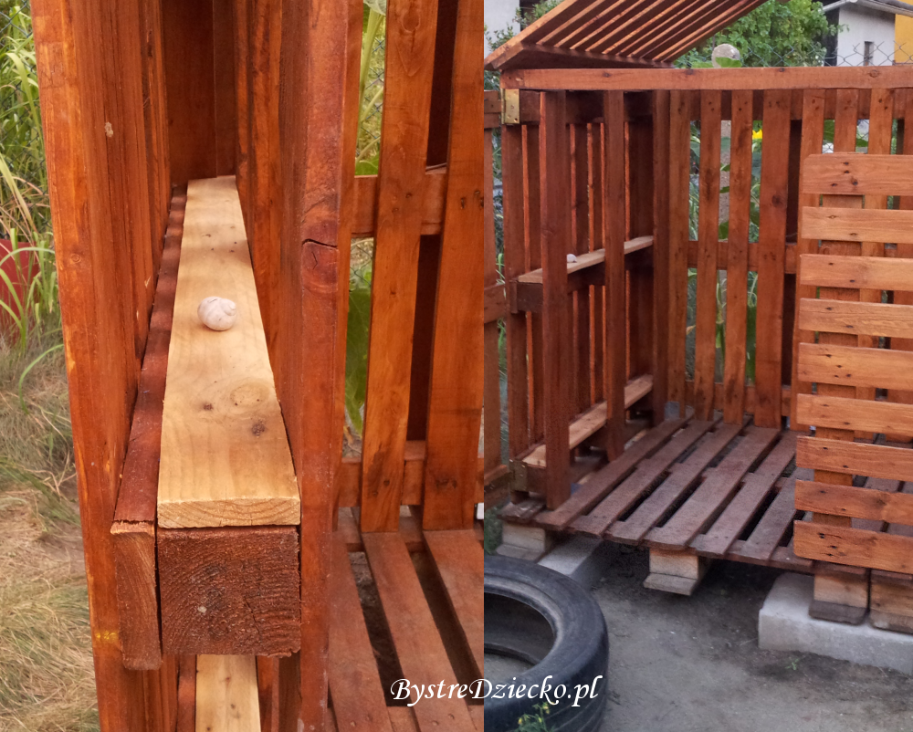 Domek dla dzieci z palet - meble z palet dla dzieci